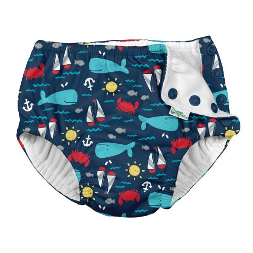 2020 Snap-Swim Diapers-Open-Navy Nautical Whale